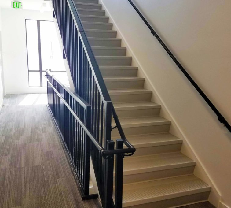 Staircase and Grab Railing Black Coated