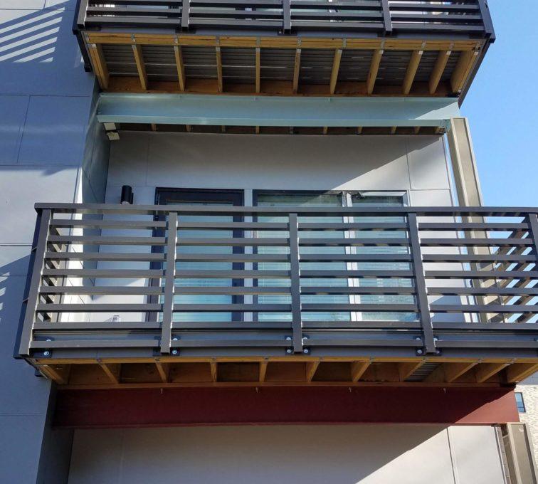 Custom Metal Deck Railing