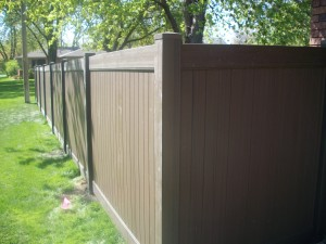 Chestnut Brown Vinyl Fence Special The American Fence