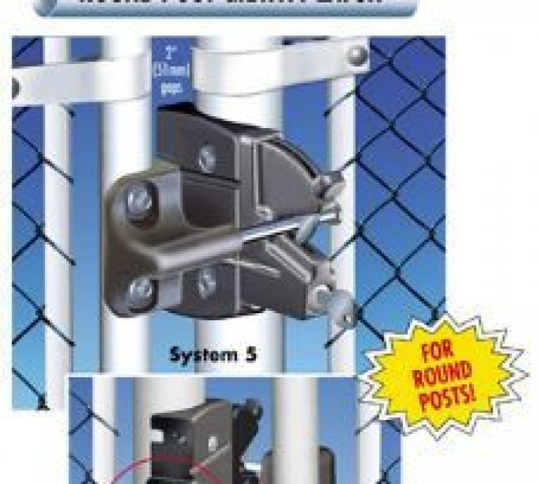 The American Fence Company - Accessories, Lokk Latch Pro-Round Posts