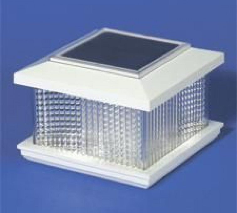 The American Fence Company - Accessories, Solar Cap Vinyl Posts