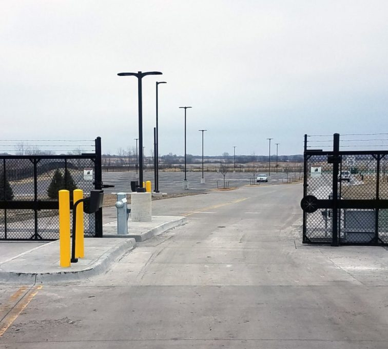 High Security Access Control Sliding Gate Operator Marine Corps Reserve Center Navy Operational Support Center Des Moines Iowa
