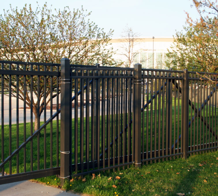 Bronze Automated Decorative Cantilever Gate