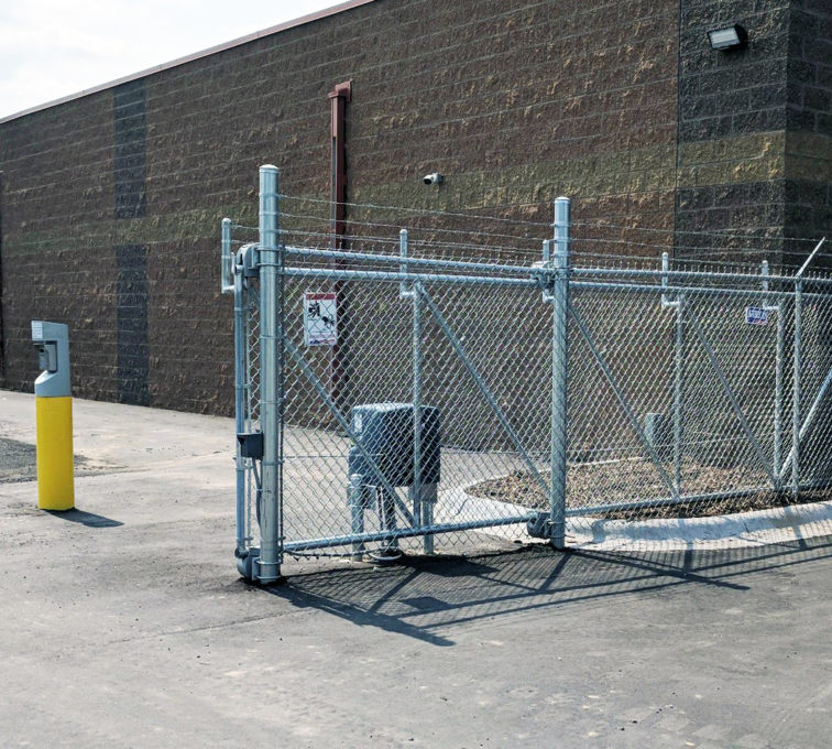 Chain Link Automatic Cantilever Gate with Barbed Wire