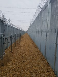 The space between two high security fences