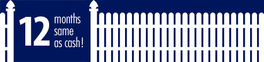 12 month financing american fence