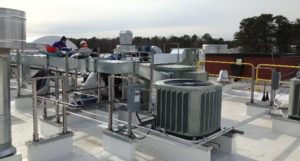 Rooftop heating and cooling equipment without any screening