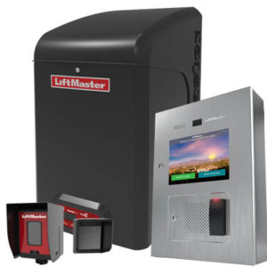 Liftmaster access control items, such as a card scanner, a photo eye and an operator