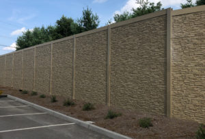 Substation fence for extra security and to block excess sound