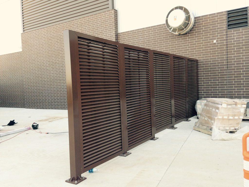 PalmSHIELD horizontal louvered screening installed at South Dakota State University